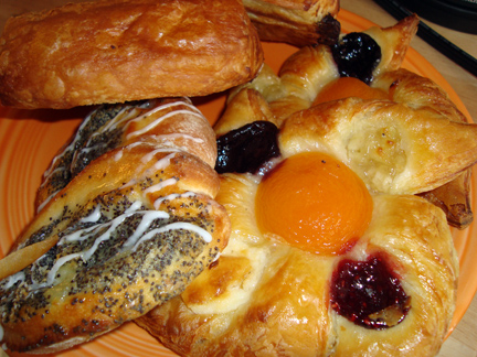 poppyseed pastry and fruit pinwheels from La Petite Provence