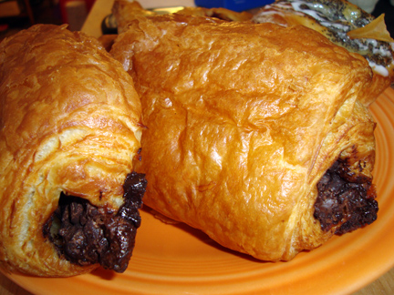 chocolate croissants from La Petite Provence