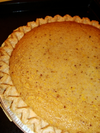 chess pie right out of the oven